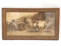 "Framed Horse Print  18"" x 10""- Rosa Bonheur ""The"