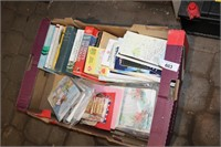 VARIOUS BOOKS, MAPS AND CARDS