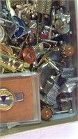 Lot of cufflinks Tie clasps and stopwatches