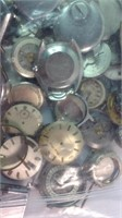 Bag of old watch parts movements