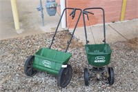 (2) Scott lawn Spreaders