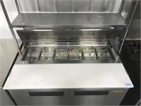 "New-Air 48"" Ref. Prep Table w/ Dbl Pass Thru Shelf"