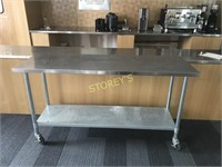 6' x 2' S/S Worktable on Casters