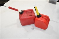 (2) Small Gas Cans