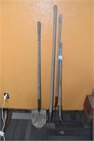 Shovel, Hoes, & Pitch Fork