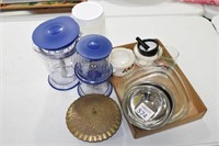 Stainless Steel Bowls, Brass Container, & Warmers