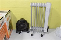 Oil Heater & Fan