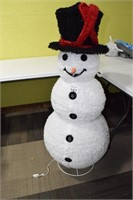 Large Lighted Snowman