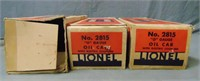 3 Clean Boxed Lionel Freight Cars