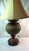 Heavy wood lamp 30 inches tall