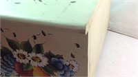 17 x 10 x 12 painted wood cabinet