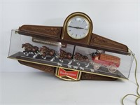 Vintage Budweiser Clydesdale Lighted Clock