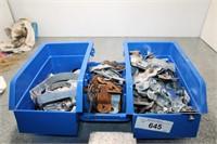 3 blue bins - misc items