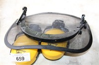 box-work horse face screen & ear coverings