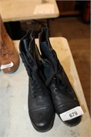 used 1 pr mia side zipper lds boots (8) black