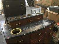 Marble top w/candle holders Kiosk and drawers