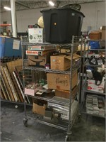 Rack lot of items not picked up from previous