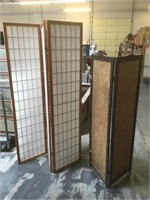 Pair of folding screens, approx 72x51 inches the