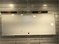 Metal Shell V-Power sign, approx 42x16 inches