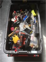 Large box full with assorted tools and mlre