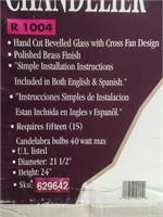 NIB Royce lighting 15 light bevelled glass