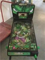 Marvel Hulk pinball machine, working condition