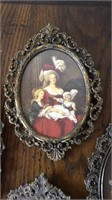 Collection of Small Metal Victorian Style Frames