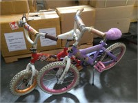 Pair of kids bicycles from Disney and Dora