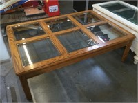 Coffee table w/6pcs of glass on top, approx