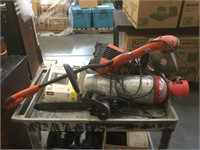 Cart top of electric chainsaw, C02 tanks and more