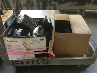 Bottom cart lot of office phones and more