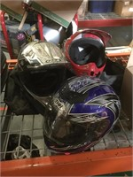 Lot incl. 3 bike helmets Size, Medium and XL