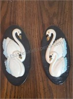 Swan Wall Decor Plaster / Chalk ware