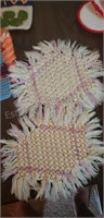 Assorted Doilies, Coasters & Embroidered Cloth