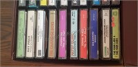 Assorted Cassette Tapes and Case