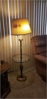 Lamp with Glass Table