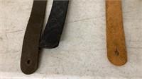 4 Assorted Guitar Straps