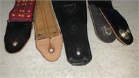 3 Assorted Guitar Straps