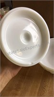 Milk Glass Candy Dish (Has Chips)