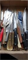 Kitchen Knifes & Chefs Fork Lot