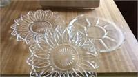 Lot of Glass Platters