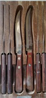 Oneida Knife Set in Wooden Block