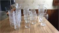 Lot of Glasses & Pitcher