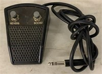 Reverb/boost Pedal