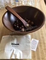 Black Walnut Wood Salad Bowl