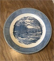 Blue Transfer-ware Plate