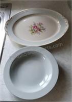 Vintage Homer Laughlin Platter & Arzberg Serving