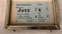 2 Joan Jett Ticket Stubbs W/ Autograph