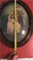 Antique Portrait Curved Glass Frame