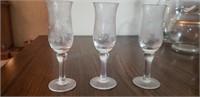 Vintage Etched Glass Pitcher/Glassware Set